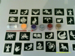 Mythology glitter tattoo set including 30 stencils + 5 glitter colours + glue  Dragons  unicorn  mermaids etc